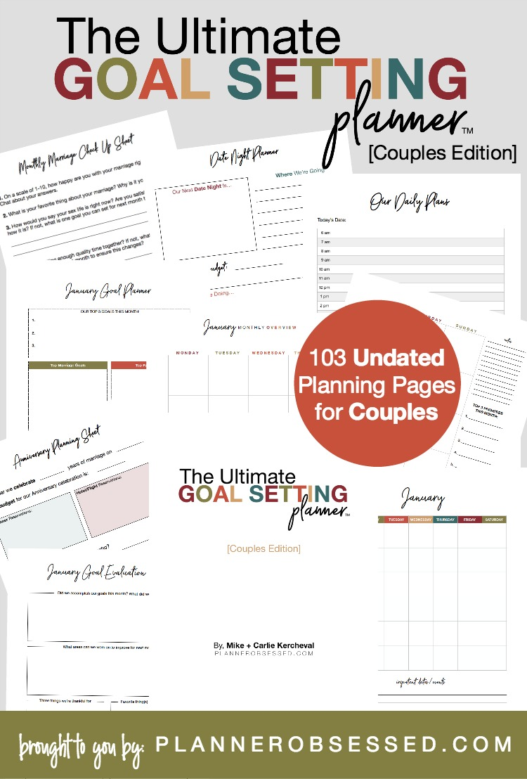The Ultimate Goal Setting Planner for Couples