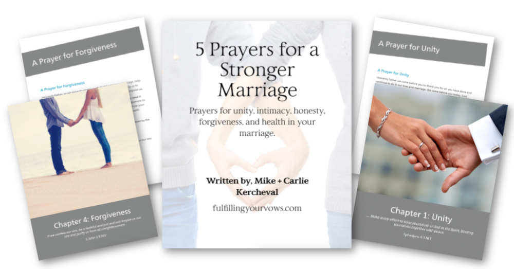 Want to love your spouse better? Grab you FREE 5 Prayers for a Stronger Marriage eBook